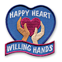 Happy Heart Willing Hands Fun Patch