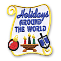 Holidays Around The World Fun Patch
