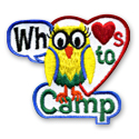 Whoo Loves To Camp Fun Patch