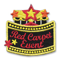 Red Carpet Event Fun Patch