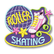 Roller Skating Girl Scout Fun Patch