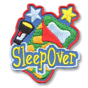 Sleep Over Girl Scout Fun Patch
