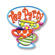 Tea Party Girl Scout Fun Patch