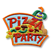 Pizza Party Girl Scout Fun Patch