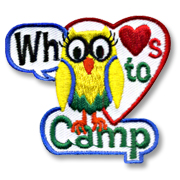 Whoo Loves to Camp Girl Scout Fun Patch