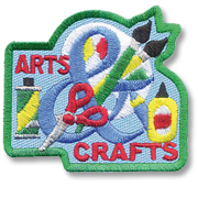 Arts and Crafts Girl Scout Fun Patch