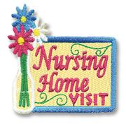 Nursing Home Visit Girl Scout Fun Patch