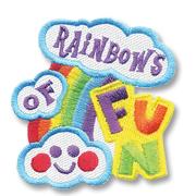 Rainbow's of Fun Girl Scout Fun Patch