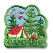 Camping Girl Scout Fun Patch