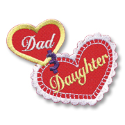 Dad and Daughter Girl Scout Fun Patch