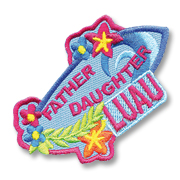 Father Daughter Luau Girl Scout Fun Patch