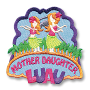 Mother Daughter Luau Girl Scout Fun Patch