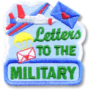 Letters to the Military Girl Scout Fun Patch