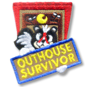 Outhouse Survivor Girl Scout Fun Patch
