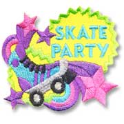 Skate Party Girl Scout Fun Patch