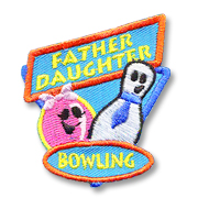 Father Daughter Bowling Girl Scout Fun Patch