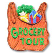 Grocery Tour Girl Scout Fun Patch
