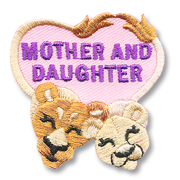 Mother Daughter Girl Scout Fun Patch