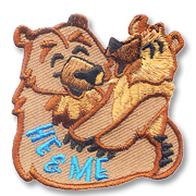 He and Me Girl Scout Fun Patch
