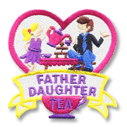 Father Daughter Tea Girl Scout Fun Patch
