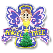 Angel Tree Girl Scout Fun Patch