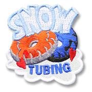Snow Tubing Girl Scout Fun Patch