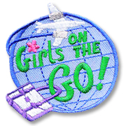 Girls on the Go! Girl Scout Fun Patch