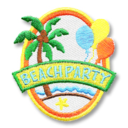 Beach Party Girl Scout Fun Patch