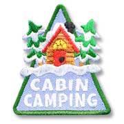 Cabin Camping Girl Scout Fun Patch