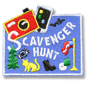 Scavenger Hunt Girl Scout Fun Patch