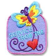 Service from the Heart Girl Scout Fun Patch
