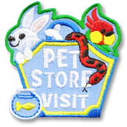Pet Store Visit Girl Scout Fun Patch