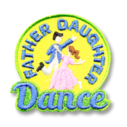Father Daughter Dance Scout Fun Patch