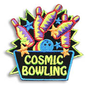 Cosmic Bowling Girl Scout Fun Patch