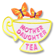 Mother Daughter Tea Girl Scout Fun Patch