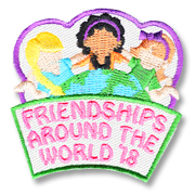 Freindships Around the World '18 Girl Scout Fun Patch
