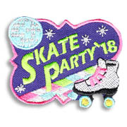 Skate Party '18 Girl Scout Fun Patch