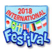 2018 International Festival Scout Fun Patch