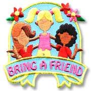 Bring a Friend Girl Scout Fun Patch