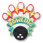 Bowling Girl Scout Fun Patch