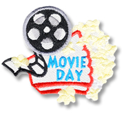 Movie Day Girl Scout Fun Patch