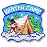 Winter Camp Girl Scout Fun Patch