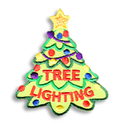Tree Lighting Girl Scout Fun Patch