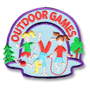 Outdoor Games Girl Scout Fun Patch