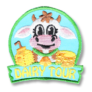 Dairy Tour Girl Scout Fun Patch
