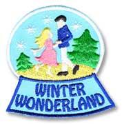 Winter Wonderland Girl Scout Fun Patch