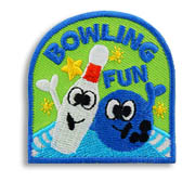 Bowling Fun Girl Scout Fun Patch
