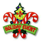 Holiday Event Girl Scout Fun Patch