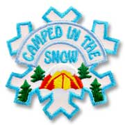 Camped In the Snow Girl Scout Fun Patch