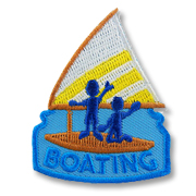 Boating Girl Scout Fun Patch